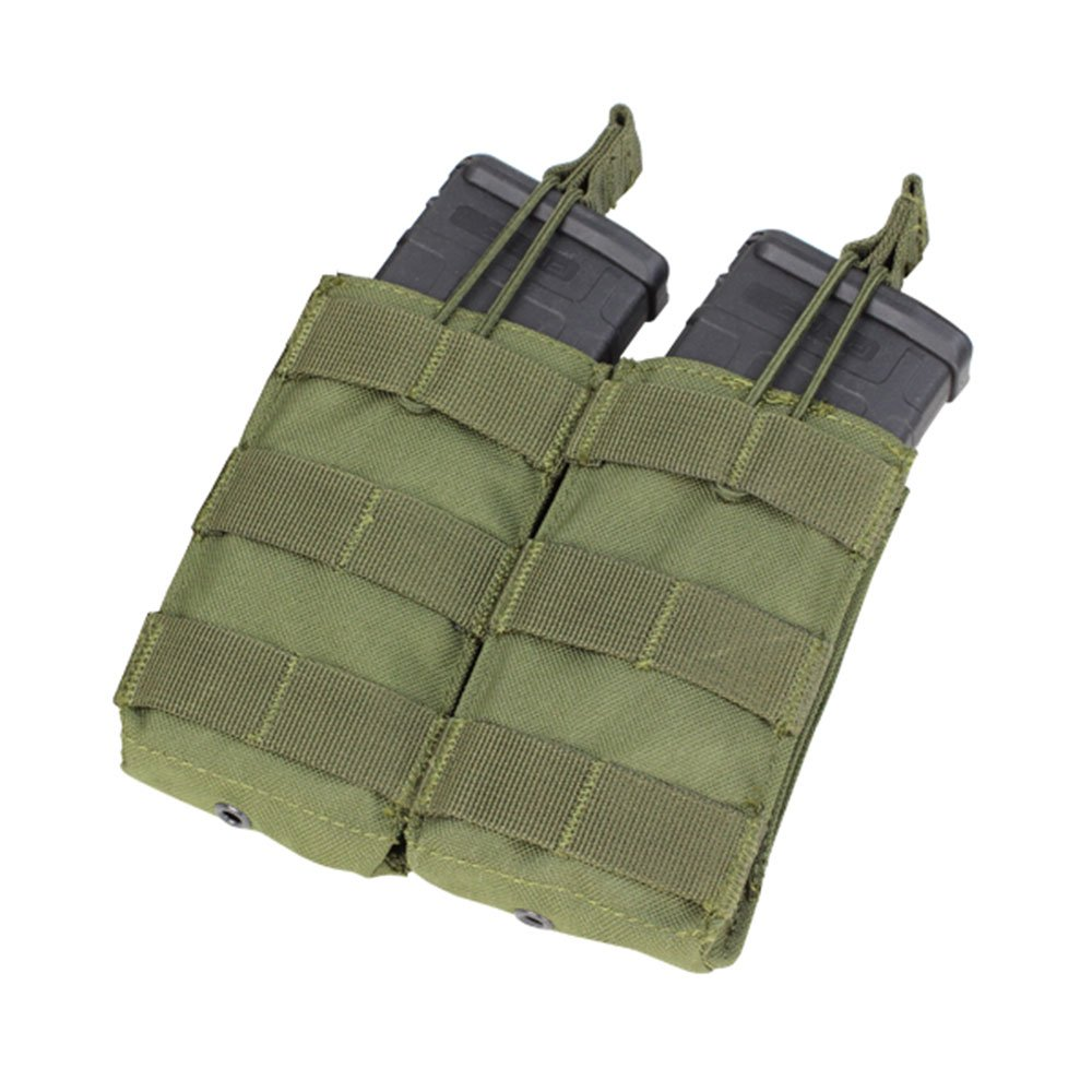 Condor MA19 Double Open Top M4/M16 5.56 MOLLE Magazine Pouch - OD Green