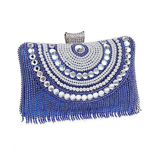 Womens Soirée Prom Party Nuptiale Shoulder Ladies blue NAOMIIII Clutch Bag Wedding Sparkly Diamante w4XqA6xf