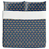 Greetings From Bali Duvet Bed Set 3 Piece Set Duvet Cover - 2 Pillow Shams - Luxury Microfiber, Soft, Breathable