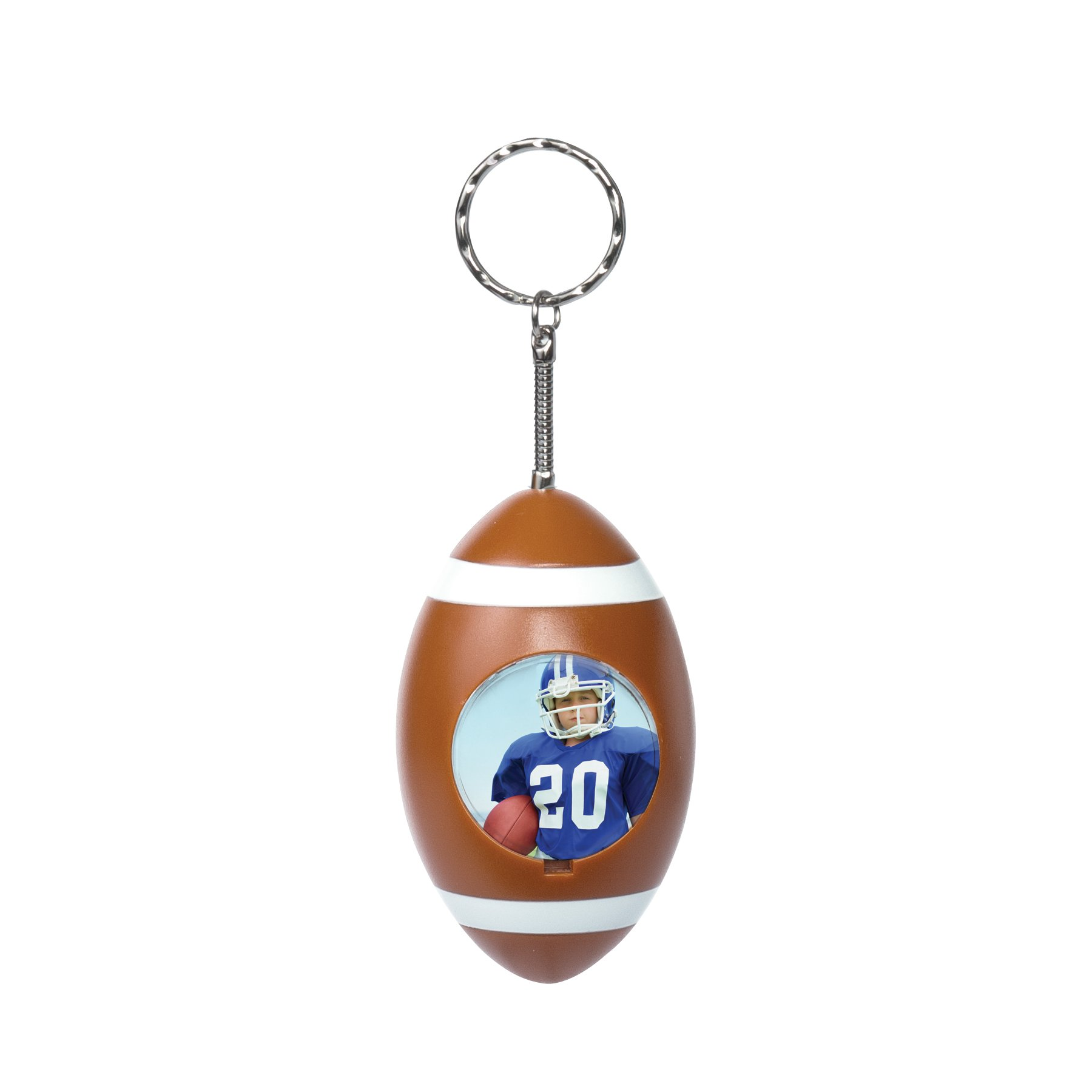 Football Sport Ball Photo Keychain - Case of 48 by Neil Enterprises
