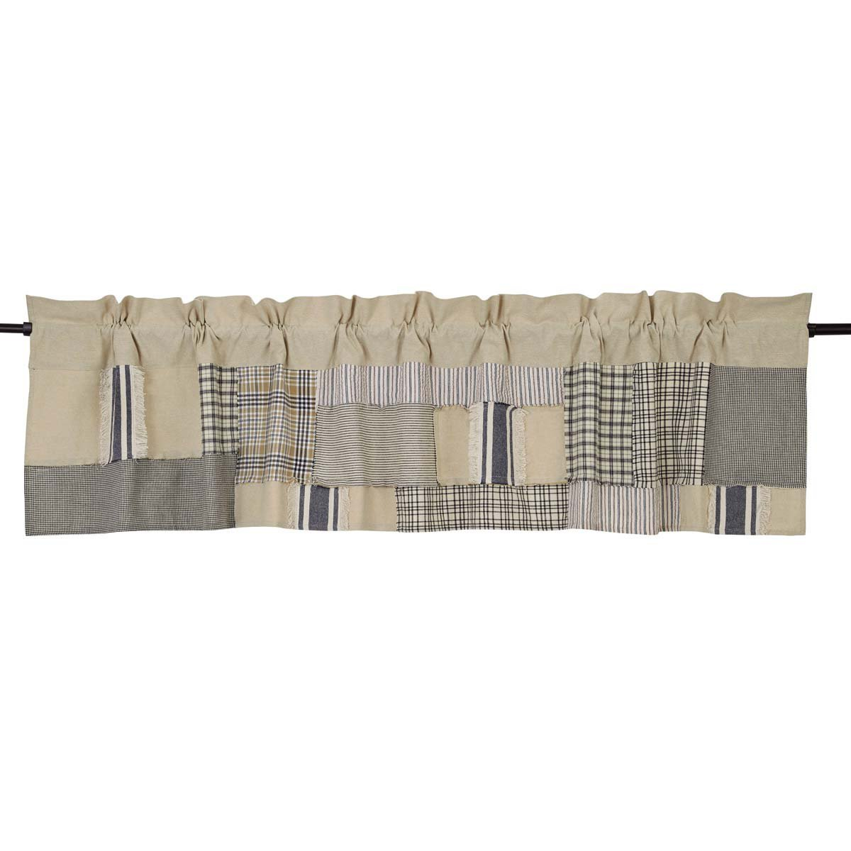 Piper Classics Mill Creek Patch Valance, 16 x 72, Farmhouse Style