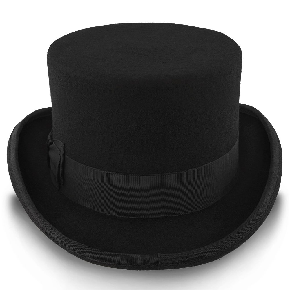 57a2eb9f3b1f9c Walrus Hats Deadman Wool Felt 4 in. Height Low Crown Top Hat - H7019 at  Amazon Men's Clothing store: