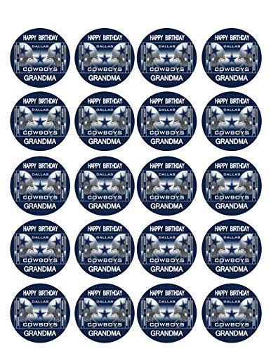 Dallas Cowboys (Nr2) - Edible Cupcake Toppers -
