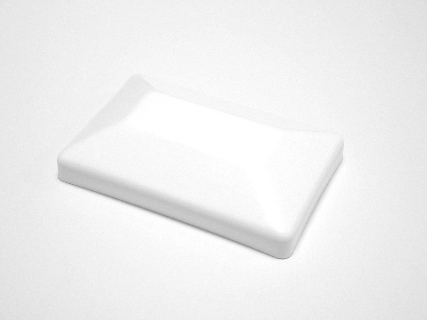 08 PACK-White Fence Post Plastic Caps 4x6 (3 5/8'' X 5 5/8'') Decorative Fence toppers for 4 x 6 post