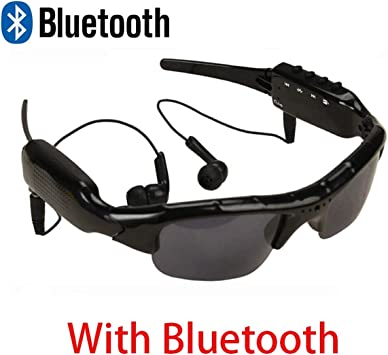 HFJ&YIE&H Caméra de Lunettes de Soleil Bluetooth, Full HD