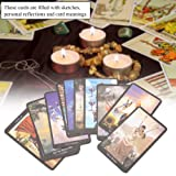 Asixx Tarot Cards, English Edition Witch Tarot Deck Future Fate Indicator Forecasting Cards Set Collection Gift for Tarot Enthusiasts
