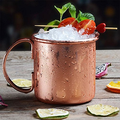 Cacys-Store - Large Bronze Plated Beer Cocktail Milk Mugs Stainless Steel Copper Gold Moscow Mule Coffee Cup Bar Tools Drinkware