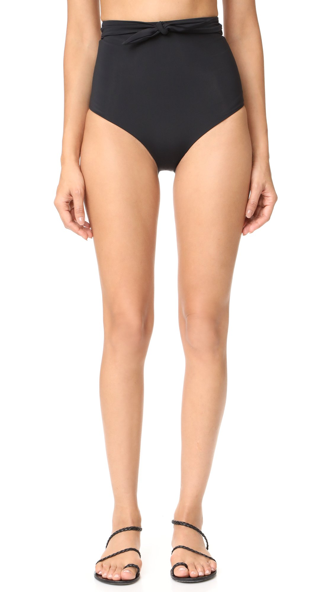 Mara Hoffman Women's Jay Bikini Bottom, Black, M