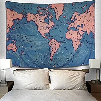 Amazon ocean current world map tapestry educational wall world map tapestry geography ocean current educational retro art tapestry wall hanging for room dorm home decor 512x591 gumiabroncs Images