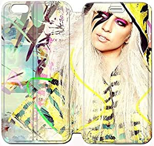 Fashion Style Lady Gaga Phone case Thin Slim Flip Leather Case Cover For iPhone 6 plus 5.5 inch OOL2973591