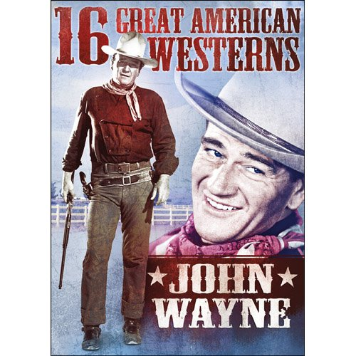 DVD : 16 Great American Westerns: John Wayne (Full Frame, Slim Pack, 3 Pack, 3PC)