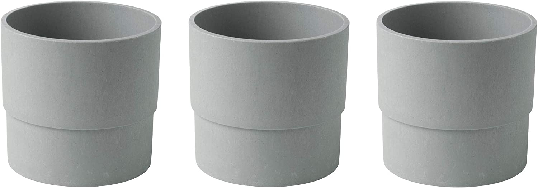 IKEA NYPON - Indoor and outdoor plastic pot (12 cm, 3 units), gray