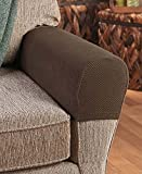 Set of 2 Stretch Armrest Covers (Chocolate)