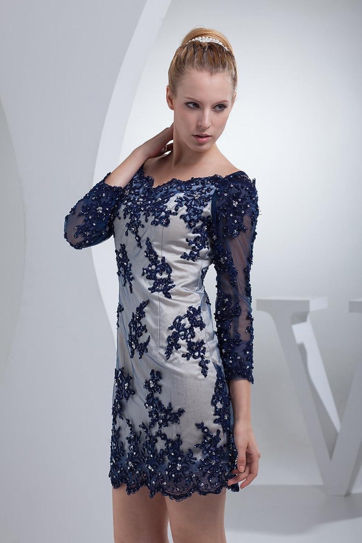 Jspoir Melodiz Women's Lace Three Quarter Sleeves Short Sheath Party Dress