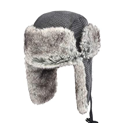 6bd0db2927c zxcvb Fashion Lei Feng Hat Male Winter Warm Cotton Hat Thickening Plus  Fluffy Hat Outdoor Ski