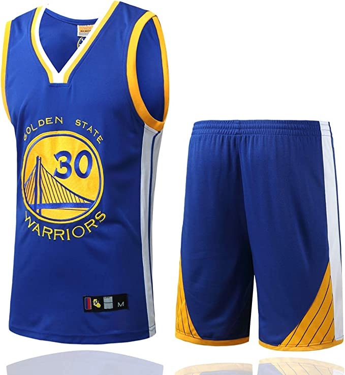 Stephen Curry Maillot Swingman Swingman Blanc y Bleu pour Hommes Golden State Warriors