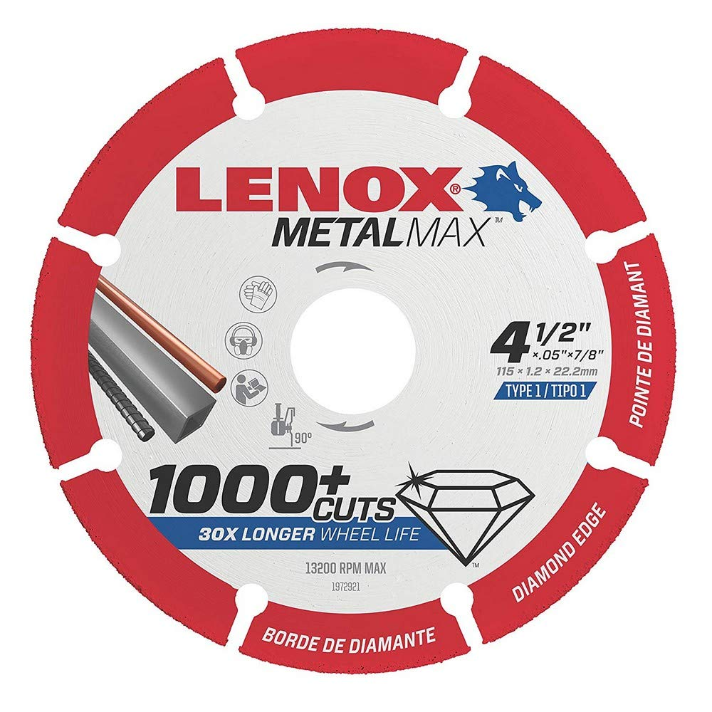 LENOX METALMAX Diamond Edge Cutoff Wheel 115 x 22.3 x 1.3 for Angle Grinder