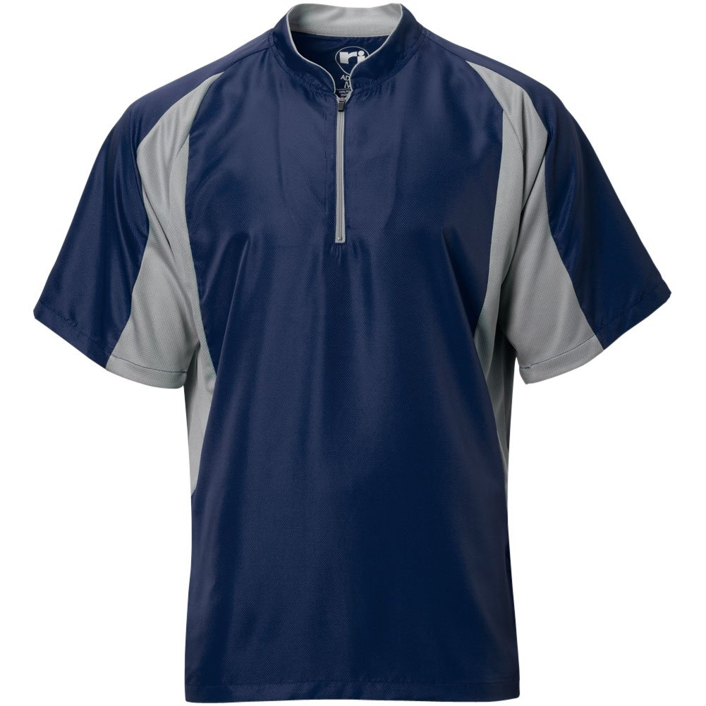 Wire2wire Mens Performance Short Sleeve Cage Jacket Navy/Grey L by Wire2wire