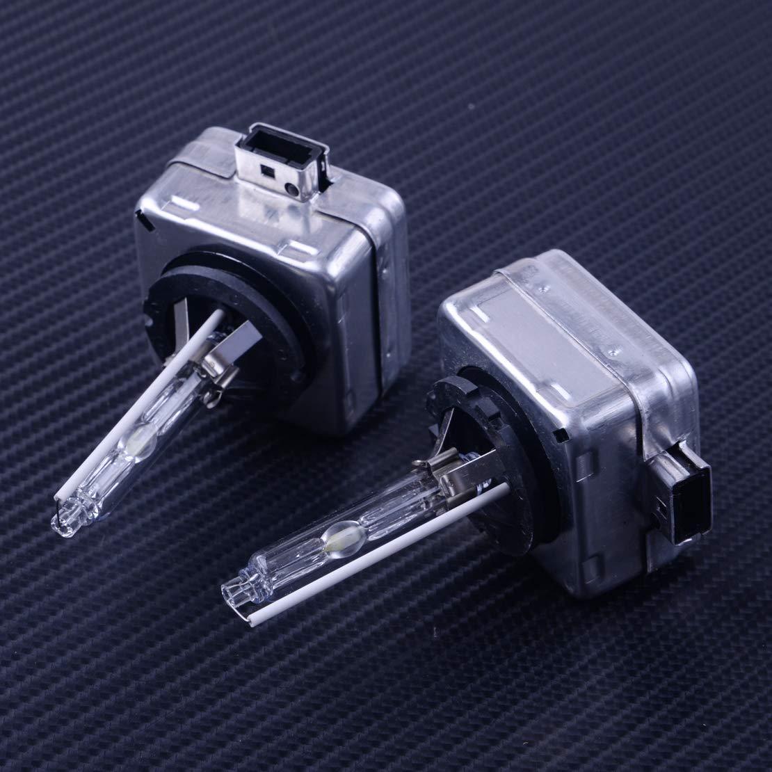 2PCS 12V 35W 9285301244 HID Xenon Headlight Bulbs Lamp Replacement D3S 6000K 3000 LM 3 pin