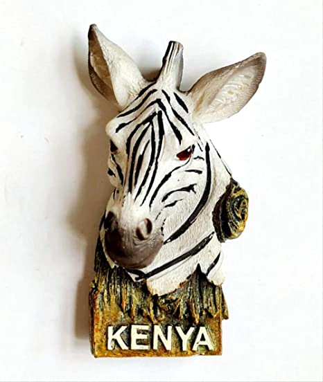 STARKWALL Hecho A Mano Pintado Africano Kenia Zebra 3D Nevera ...