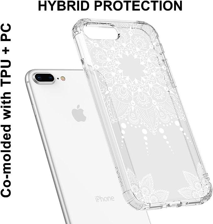 MOSNOVO Cover iPhone 7 Bianco Henna Mandala Pizzo Fiori