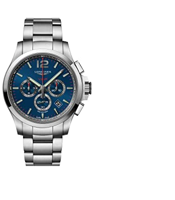 097273bdbde Longines Conquest V.H.P. Blue Dial Stainless Steel Mens Quartz Chronograph  Watch L37274966