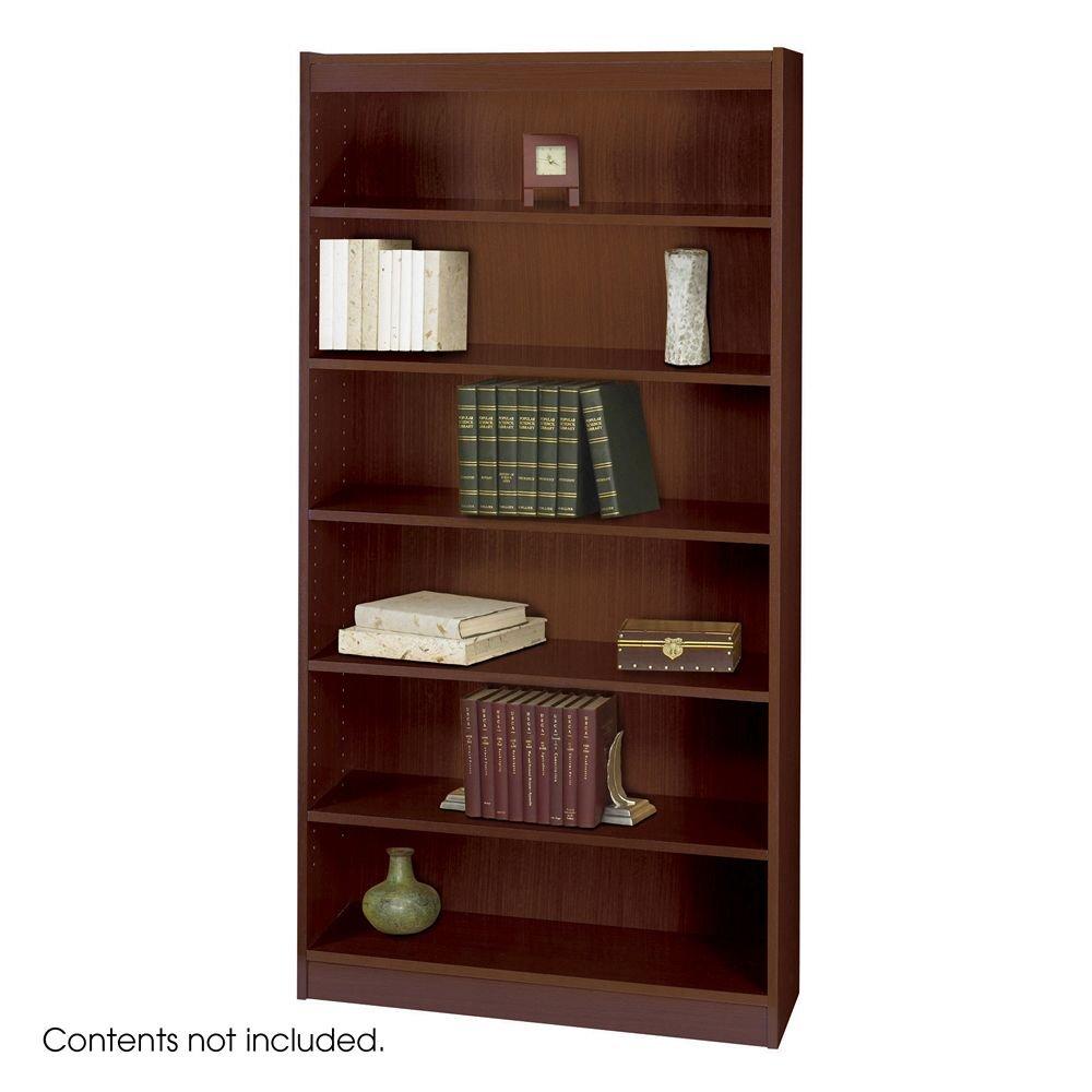 Amazon.com: Safco Products 1505MHC Square-Edge Bookcase, 6 Shelf ...