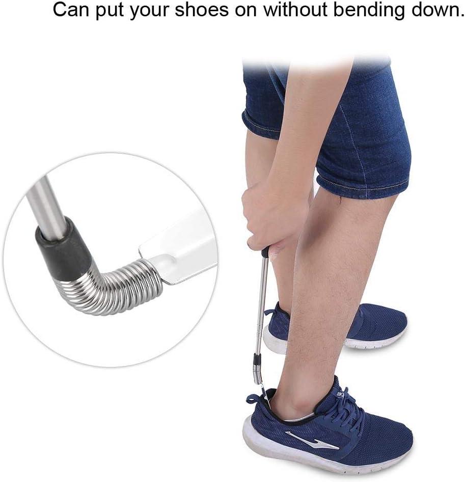 Calzascarpe retrattile Calzascarpe con manico extra lungo in acciaio inossidabile per anziani Donna incinta e persone in movimento