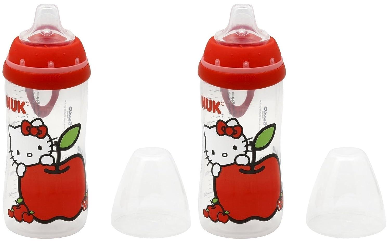 Amazon.com: NUK Hello Kitty Boquilla de Silicona Active Cup ...