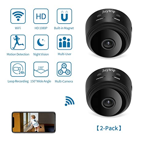 Buy Mini Hidden Camera WiFi 2 Pack, JOYTRIP Wireless HD