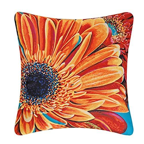 C and F Enterprises 18-in. Square Indoor/Outdoor Pillow - Gerbera -