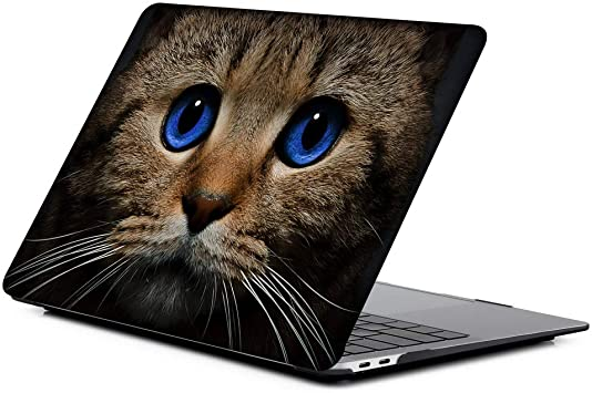 MacBook Air Case 13 Smart Well-Behaved Cute Cat Animal Pet Plastic Hard Shell Compatible Mac Air 11 Pro 13 15 13 MacBook Pro Case Protection for MacBook 2016-2019 Version