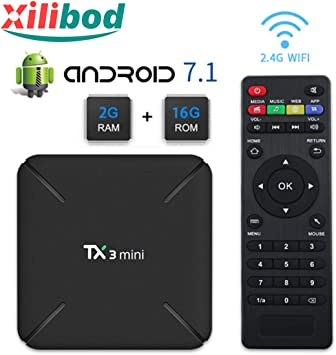 Xilibod TX3 MINI Android 7.1 TV BOX 2GB/16GB 4K TV Amlogic S905W Quad core H.265 Decoding 2.4GHz WiFi: Amazon.es: Electrónica