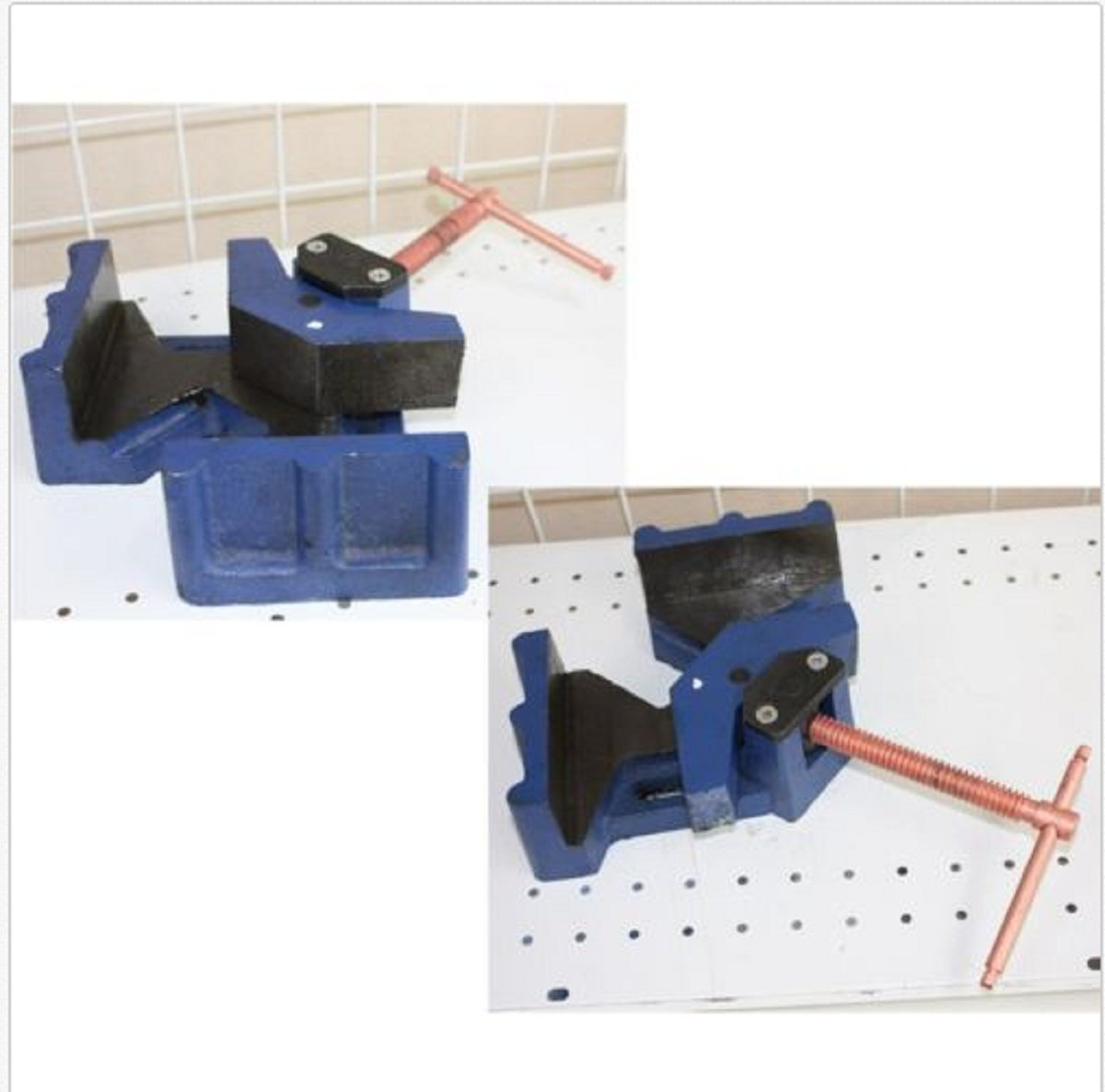 USA Premium Store LOT OF TWO 2-1/2'' JAW WELDER WELDING MOLDING 90° ANGLE CORNER CLAMP BENCH VISE