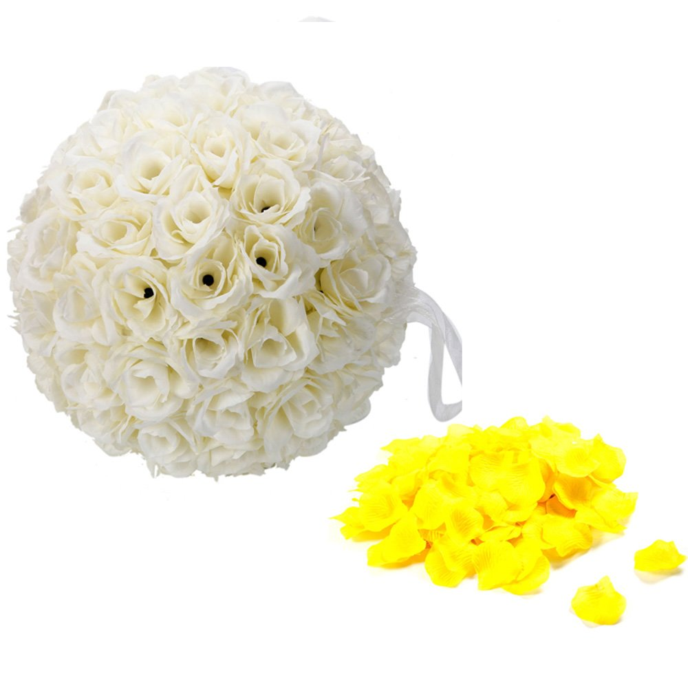 10 Pack 9.84 Inch Romantic Rose Pomander Flower Balls for Wedding Centerpieces Decorations Micromall KFP670