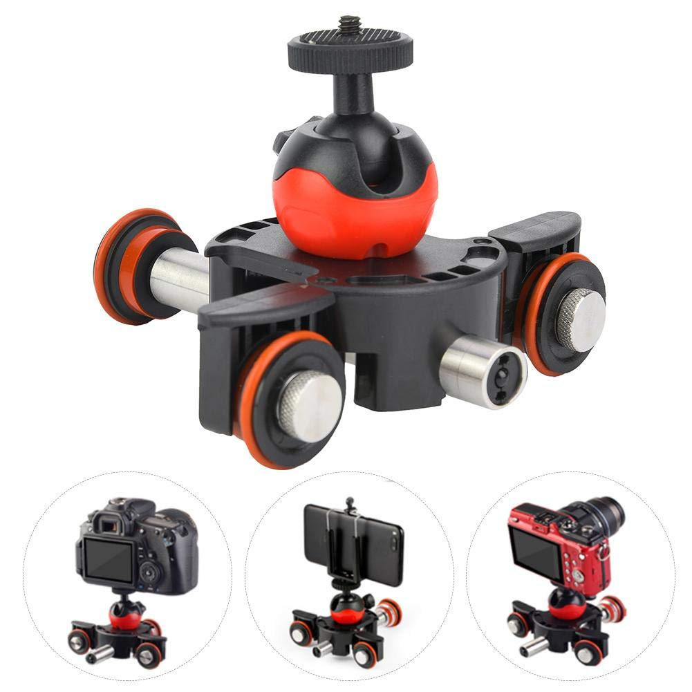 Camera Video Track Dolly with Remote Controller for Phone/Action Cameras by Madezz