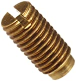 "Brass Vee Jewel Assembly Spring Loaded .175"" Length , Angle 80 / 85 Degrees , Vee Depth .015"" / .020"" , #2-80 UNS-3A Thread"