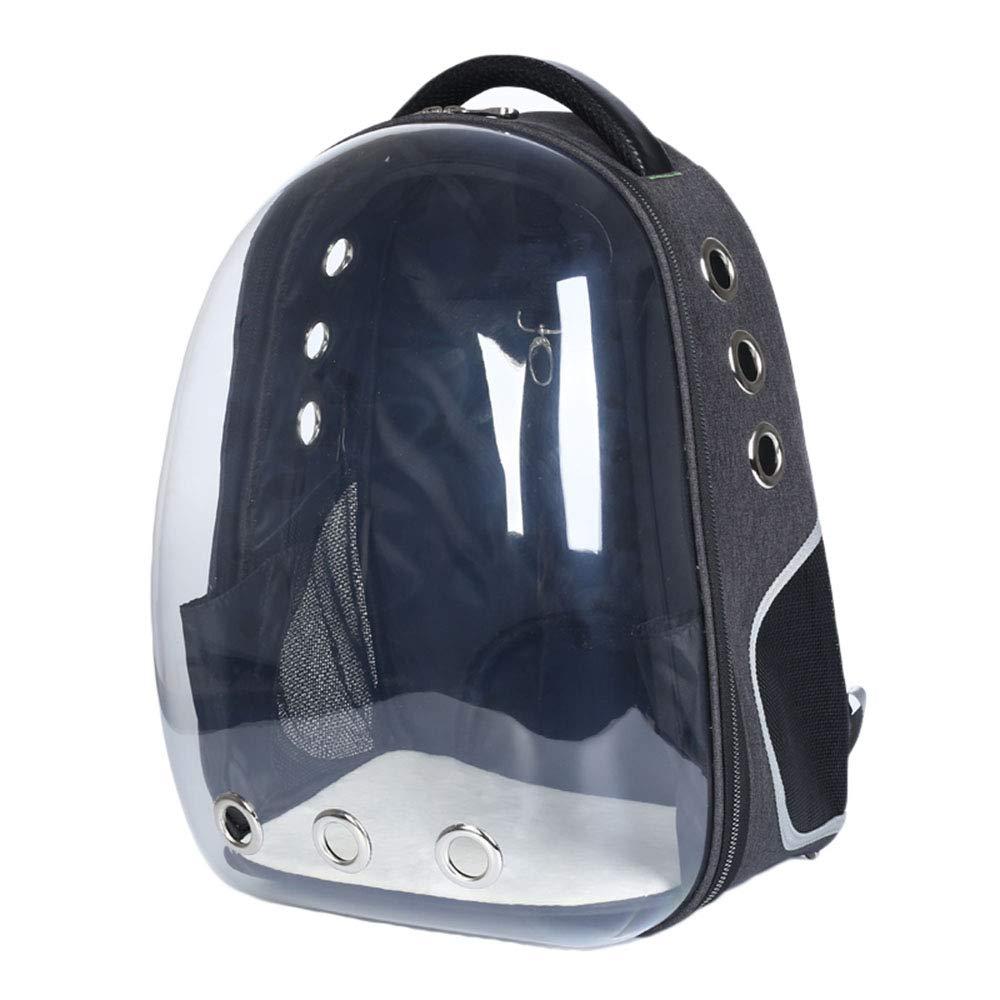 Black 332844cm Black 332844cm Yugoujiu Cat Bag Transparent Out Portable Cat Cage Bag Dog Backpack Cat Outsourcing Bag Shoulder Loaded Space Pet Cabin Bag,Black,33  28  44Cm