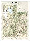 National Geographic: Utah Wall Map - Laminated (30.25 x 40.5 inches) (National Geographic Reference Map)