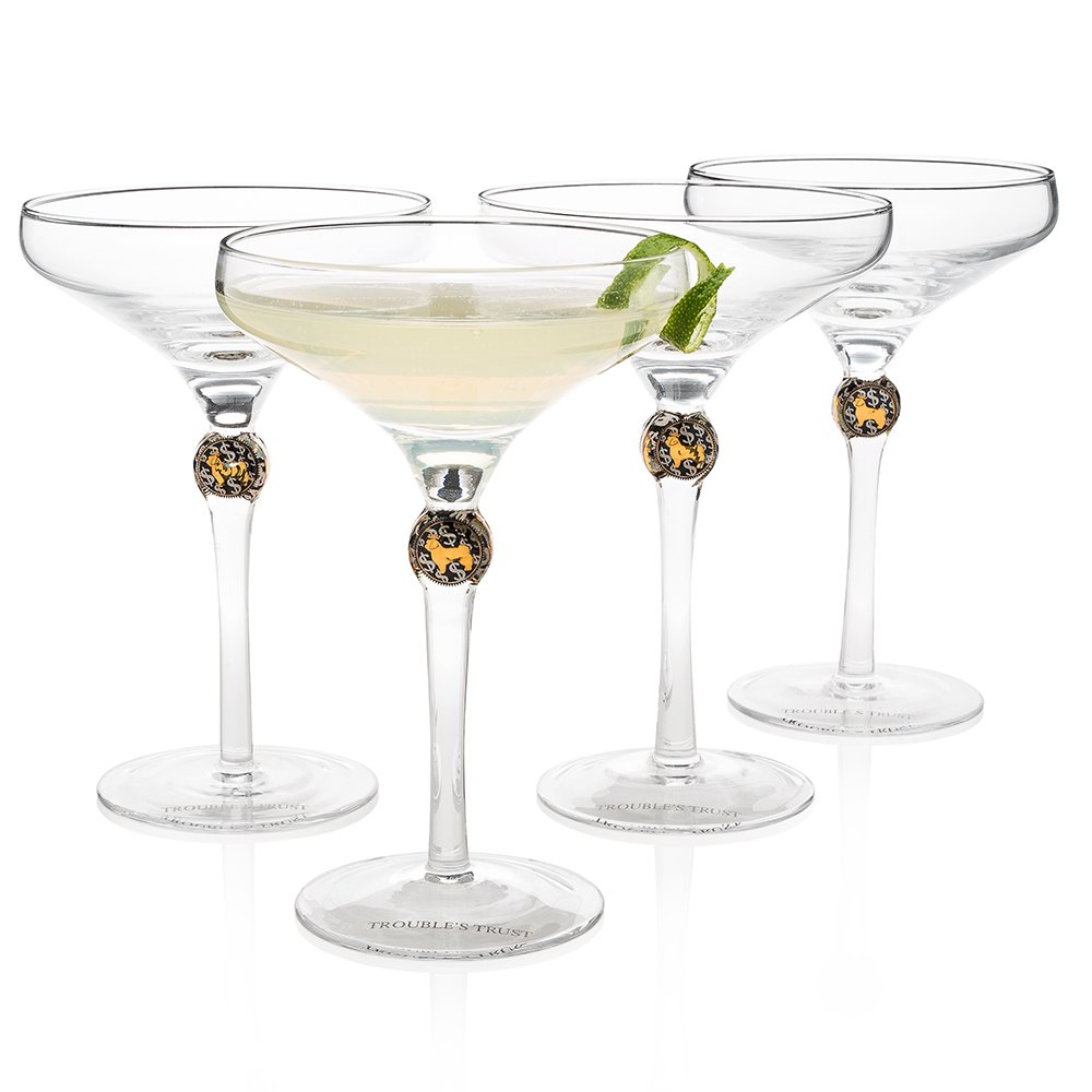 ''New York's Most Exquisite'' Cocktail Glass (Gift Box Set of 4) by HISTORY COMPANY