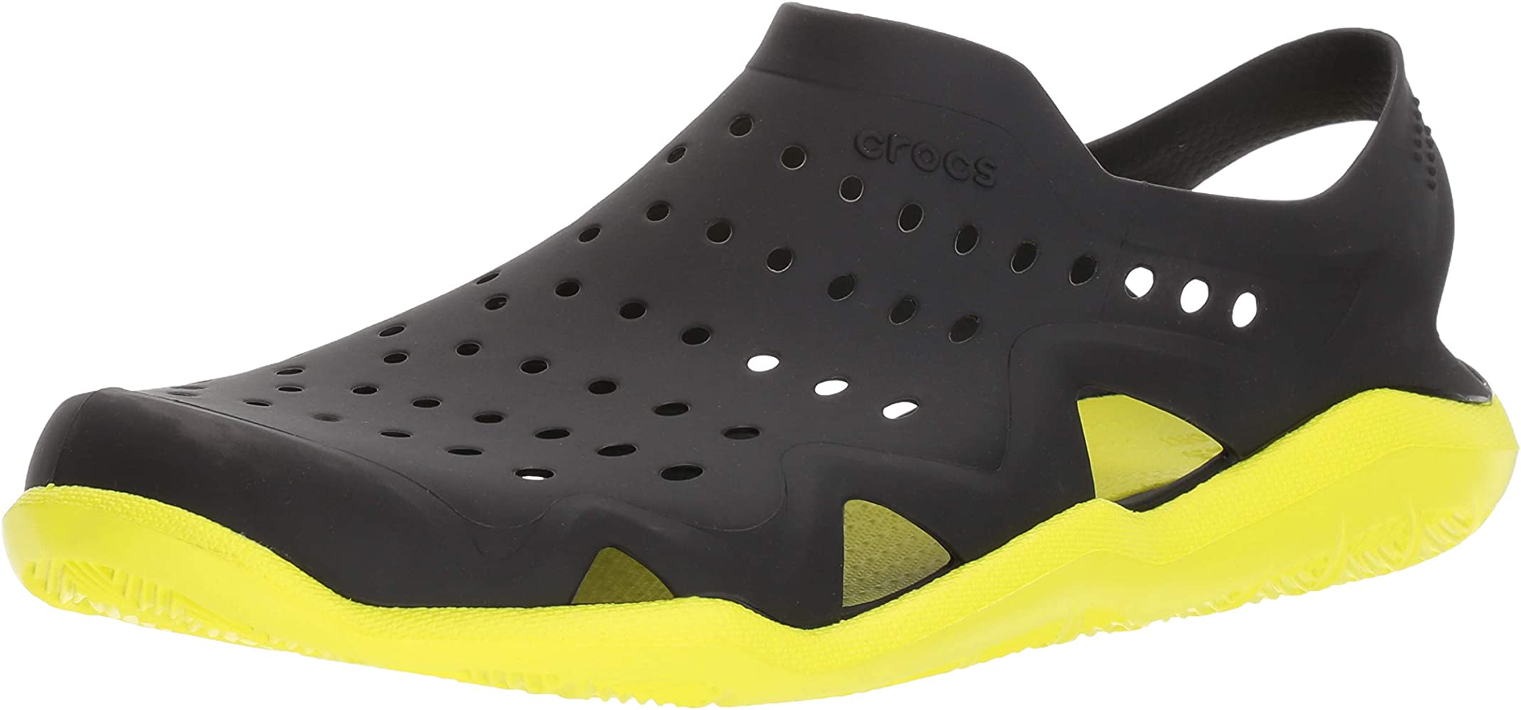 best service 6e320 0f9a4 crocs Herren Sandale Swiftwater Wave M 203963 Black/Tennis ...