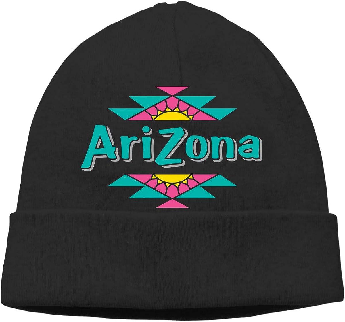 Unisex Knit Hat Arizona Wildcats License Plate Print Hats Soft Stretch Beanies Black