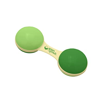 green sprouts Sprout Ware Dumbbell Rattle Made from Plants | Encourages Whole Learning The Healthy & Natural Way | Plant Based, Easy to Hold & Shake, Playful Rattle Sound : Baby Rattles : Baby