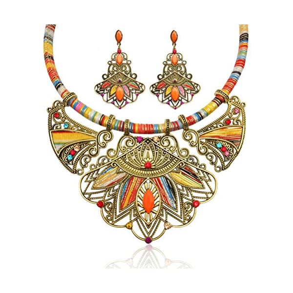 LUOEM-Fashion-Handmade-Ethnic-Set-Bib-Necklace-Earrings-Multicolor-Boho-Vintage-Statement-Jewelry-for-Women-Jewelry-Colorful