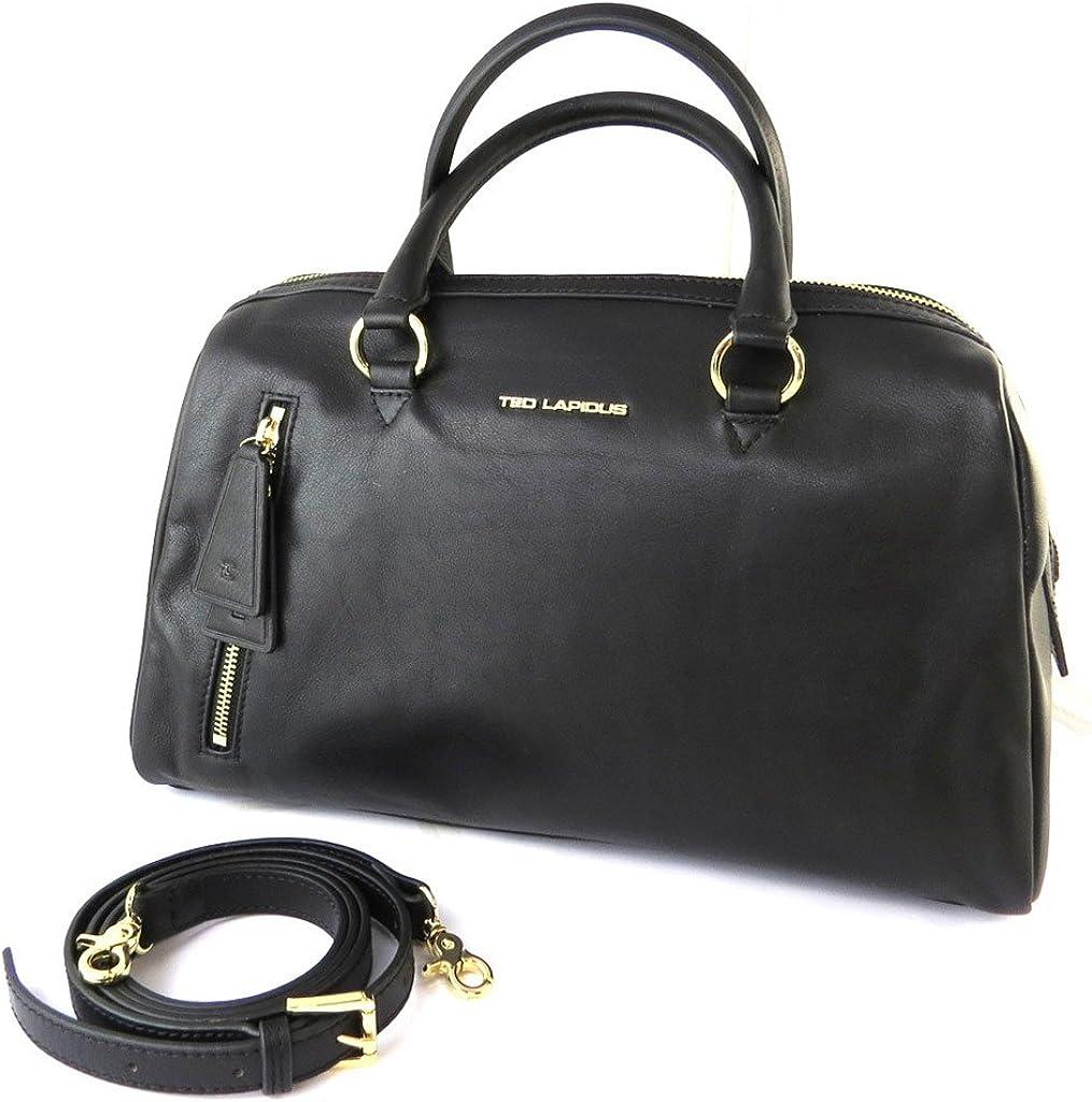 Leather bag Ted Lapidus black.