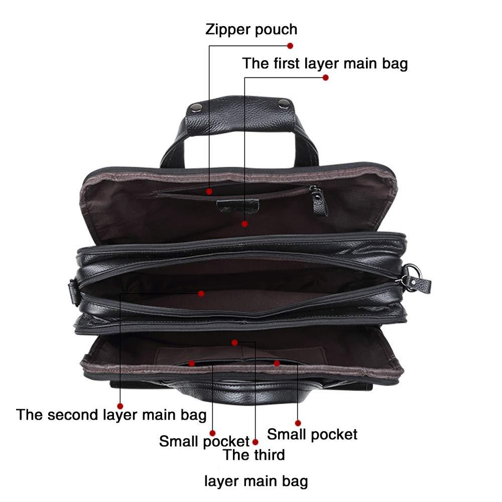 a39da32e69 Sacs Sacs bandoulière REDWALL®Nouveau Rétro Sacs Portés Épaule Messenger Bag  Sac Bandoulière 15.6 Mallette Laptop Briefcase Hommes Femmes ...