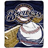 "Officially Licensed MLB Big Stick Raschel Throw Blanket, Bedding, Soft & Cozy, Washable, 50"" x 60"""