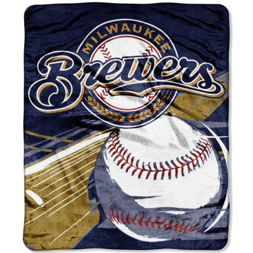 (Officially Licensed MLB Big Stick Raschel Throw Blanket, Bedding, Soft & Cozy, Washable, 50
