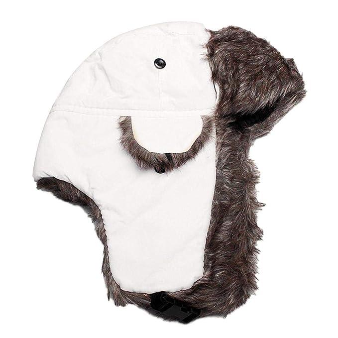 kaimus Cappello da Aviatore Solido Casuale Impermeabile Unisex Cappello  Caldo Invernale con paraorecchie Cappelli Aviatore d9b827d2af4d