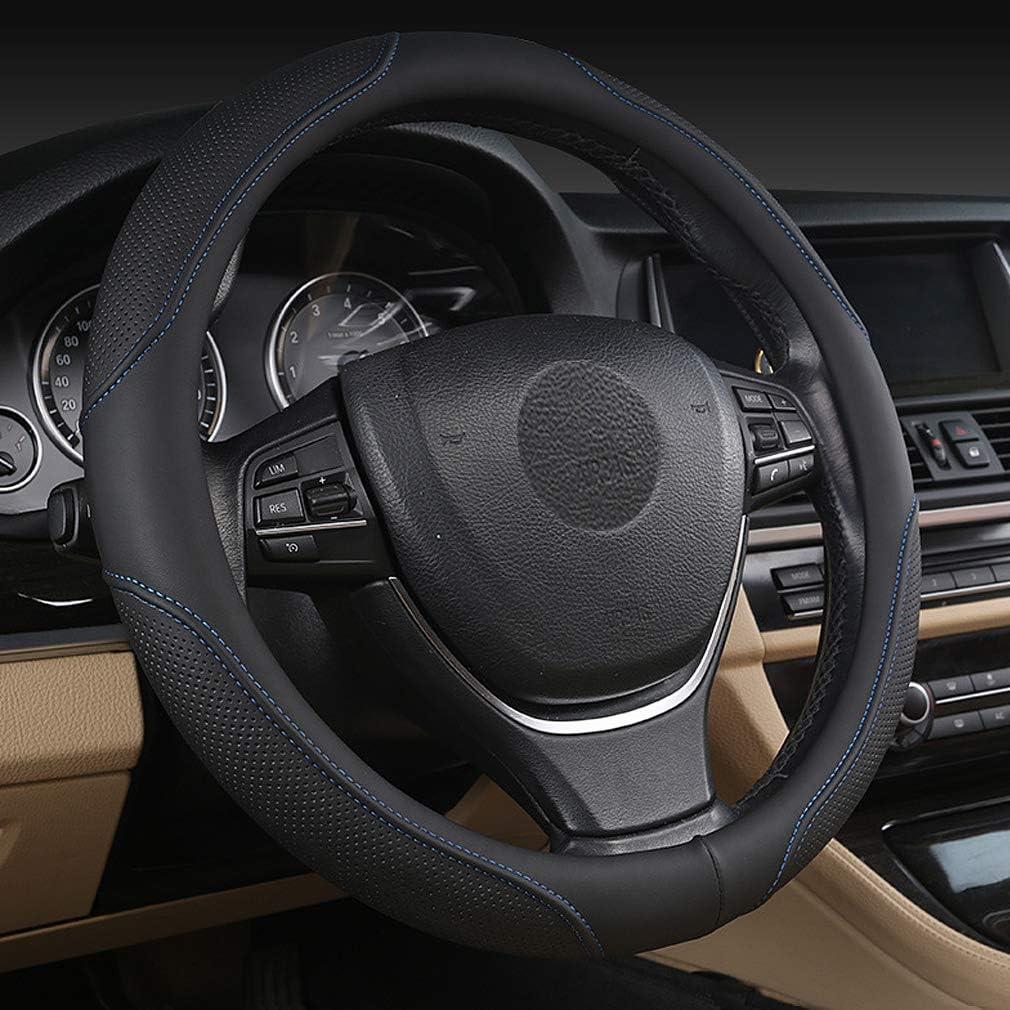 beige Car Steering Wheel Cover Soft Leather Sporty Curves Breathable Anti-Slip Pahajim Universal 15 inch//38CM Breathable Anti-slip Protector for Auto